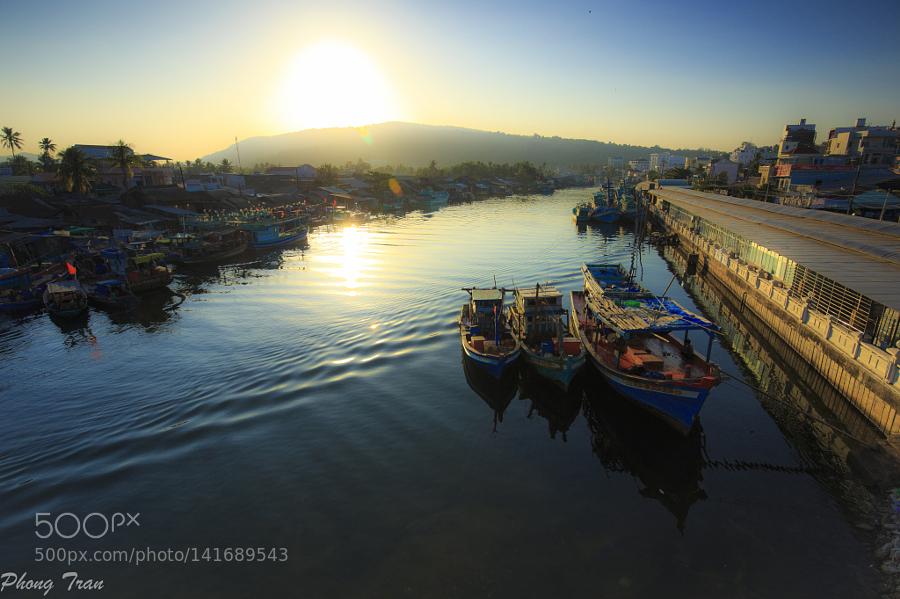 Duong Dong Dock in sunrise