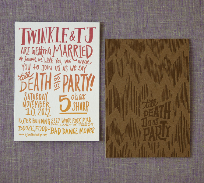 Invitation front and back.