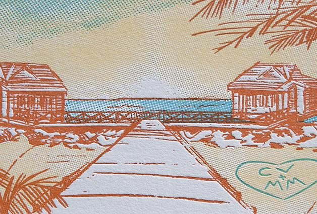 Detail of letterpress impression.