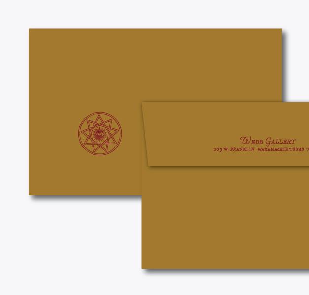 Envelope: A9, Stardream Antique Gold