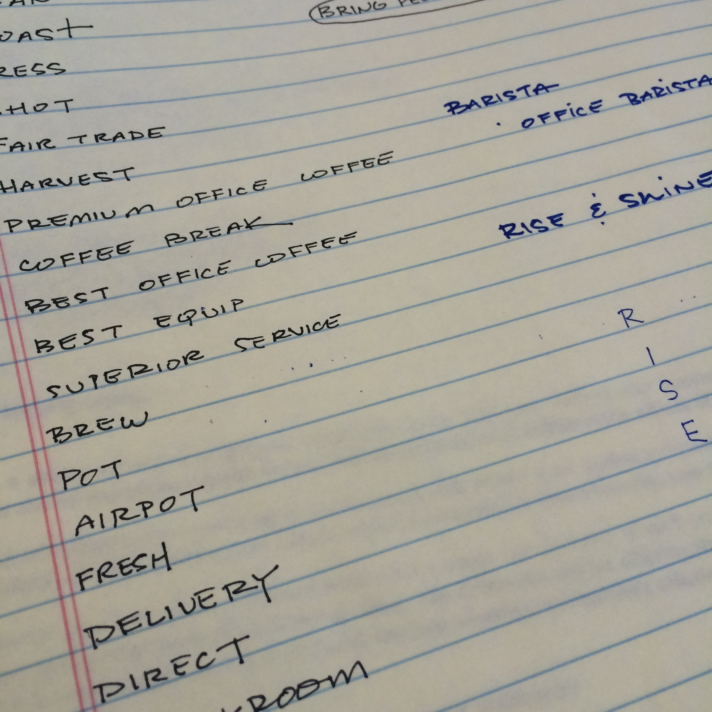 Notes from naming process