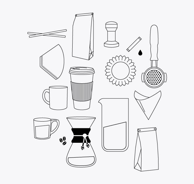 Custom brand line drawings