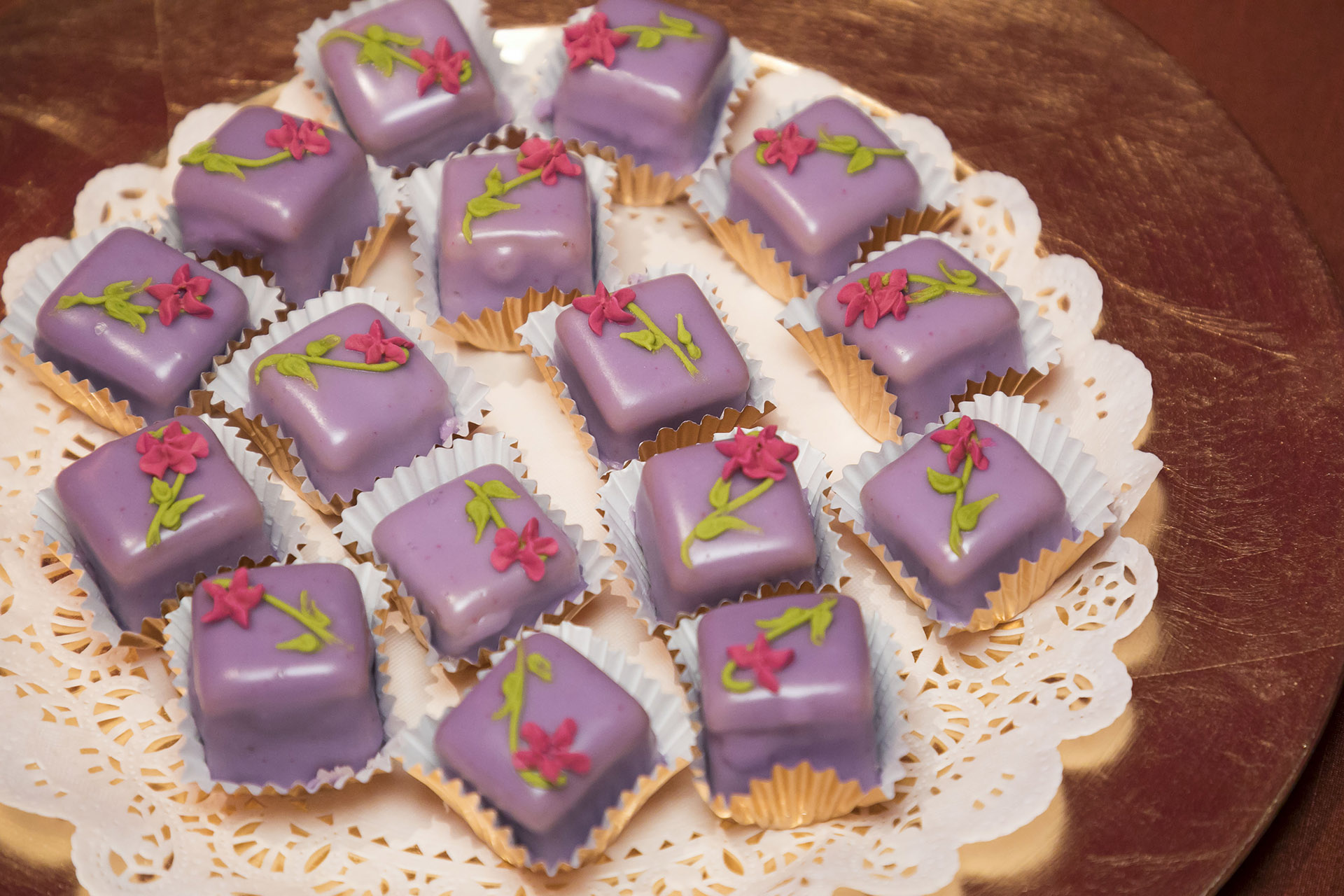 Havana themed Lavender Bloom Petit Four