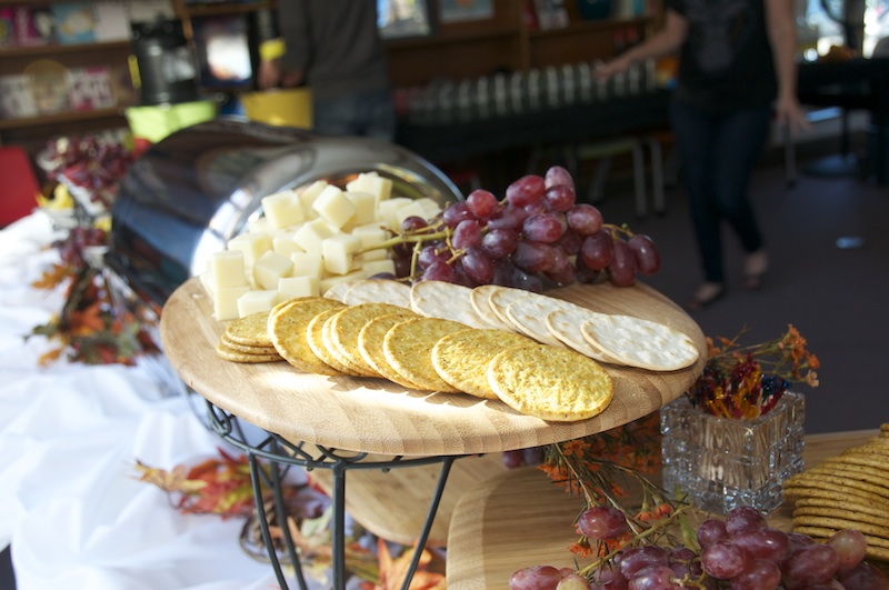 Fruit, cheese and crackers display.  Photos by Amelia Morris .