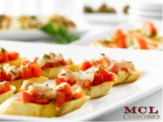 MCL Catering bruschetta is equal parts yummy and festive.