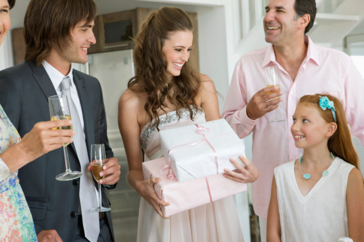 Register if you'd like – some guests will appreciate engagement party gift ideas!