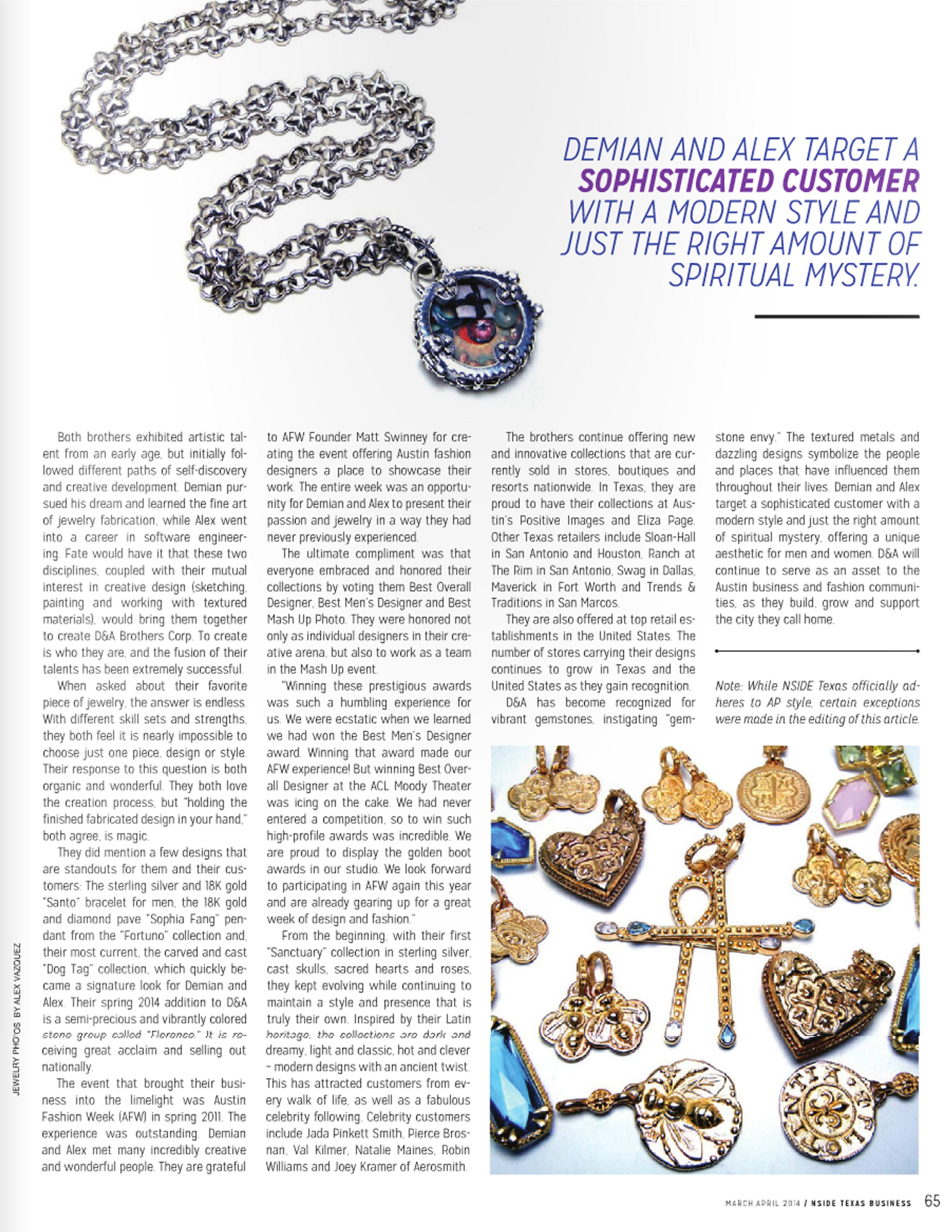 D&A / March/April 2014, Austin NSIDE Magazine.