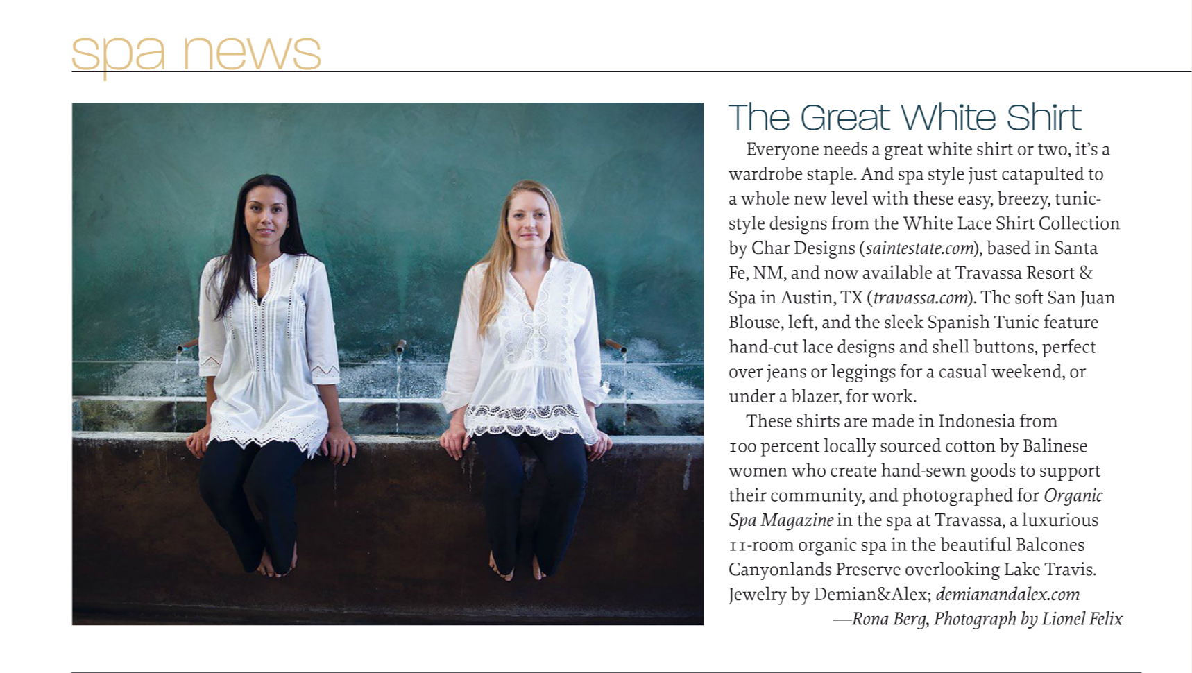 Char / March/April 2014, Organic Spa Magazine