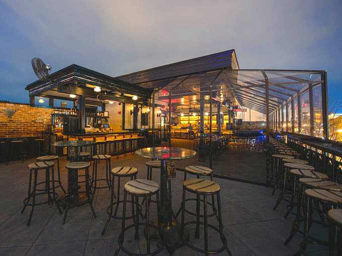The Brixton has a gorgeous rooftop deck!