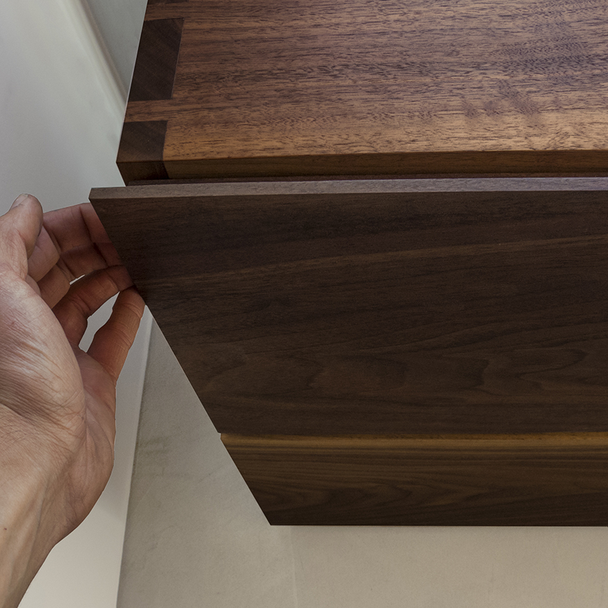 Modern Wood and MetalFiling Cabinet Pull