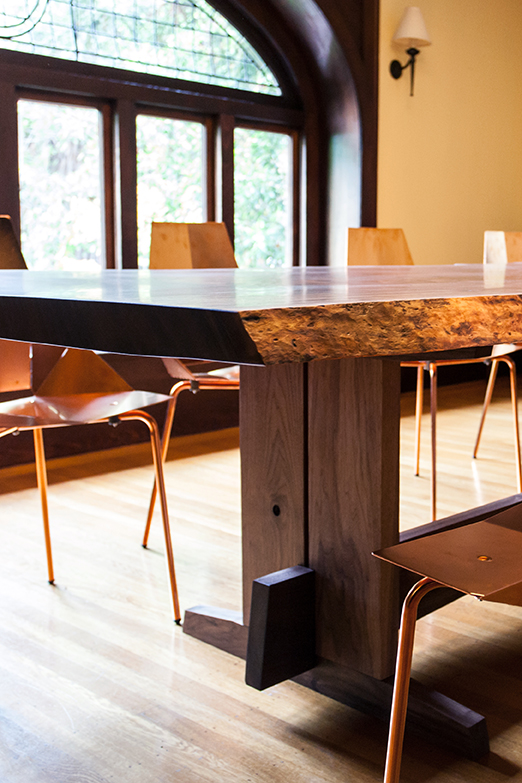 Solid Wood Dining Table Base