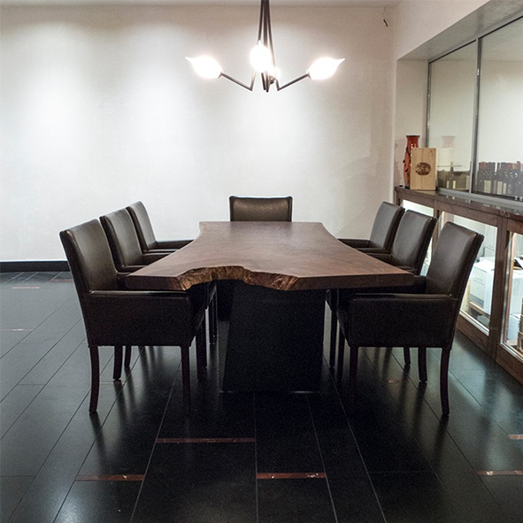 Furniture / wine cellar dining table