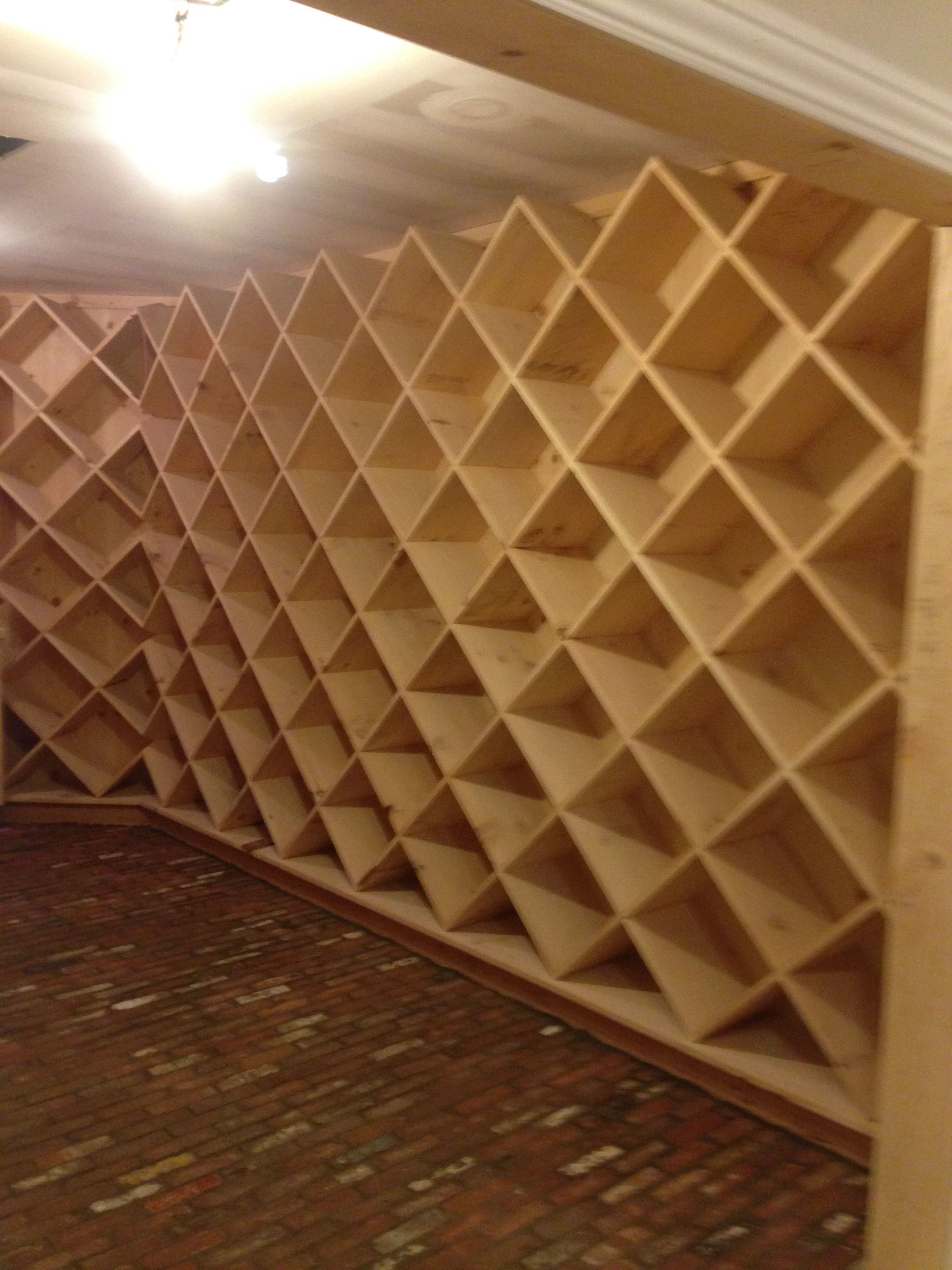 Custom built 2000 bottle wine cellar.