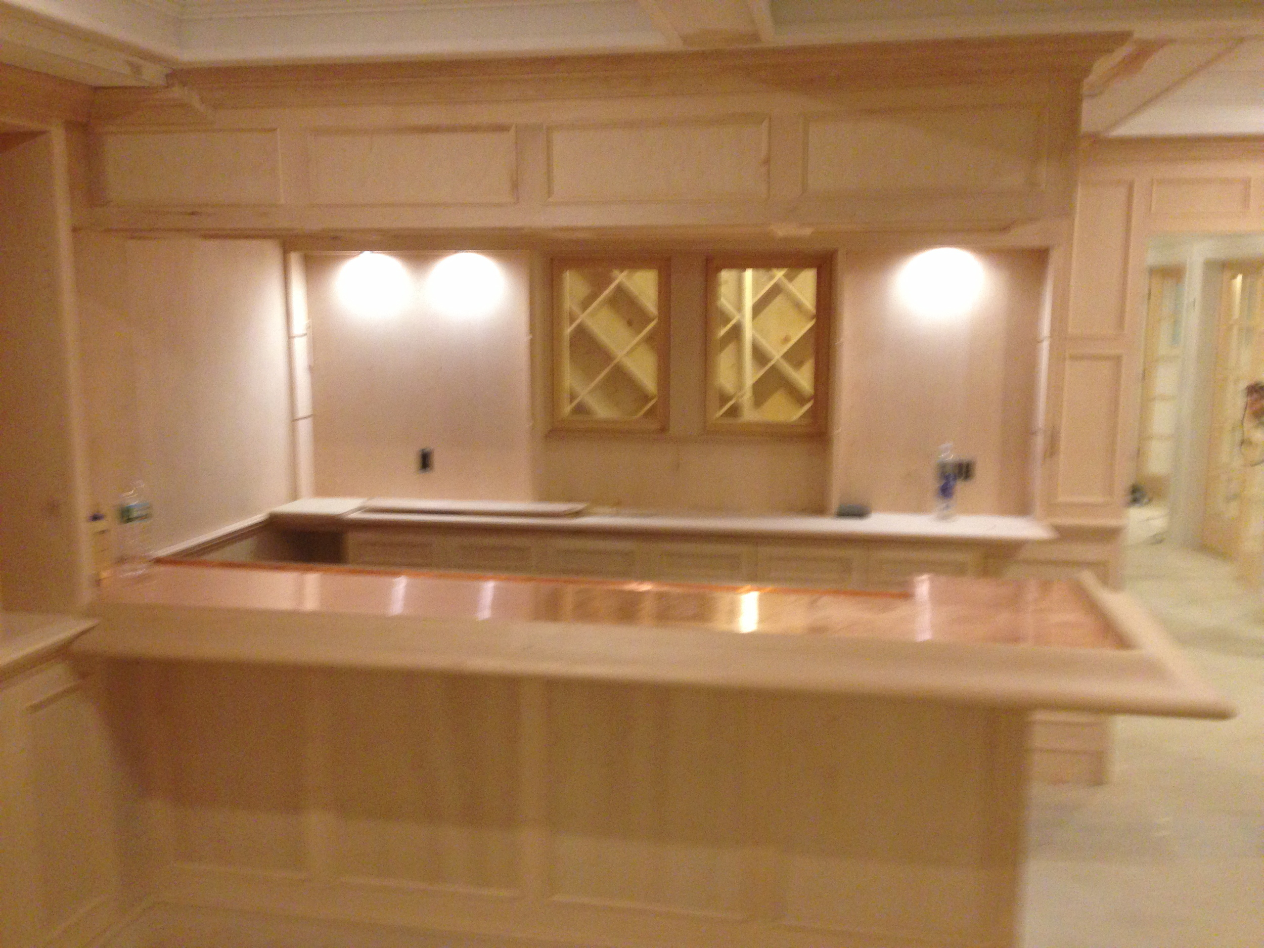 Completed Bar Overlooking Wine Room