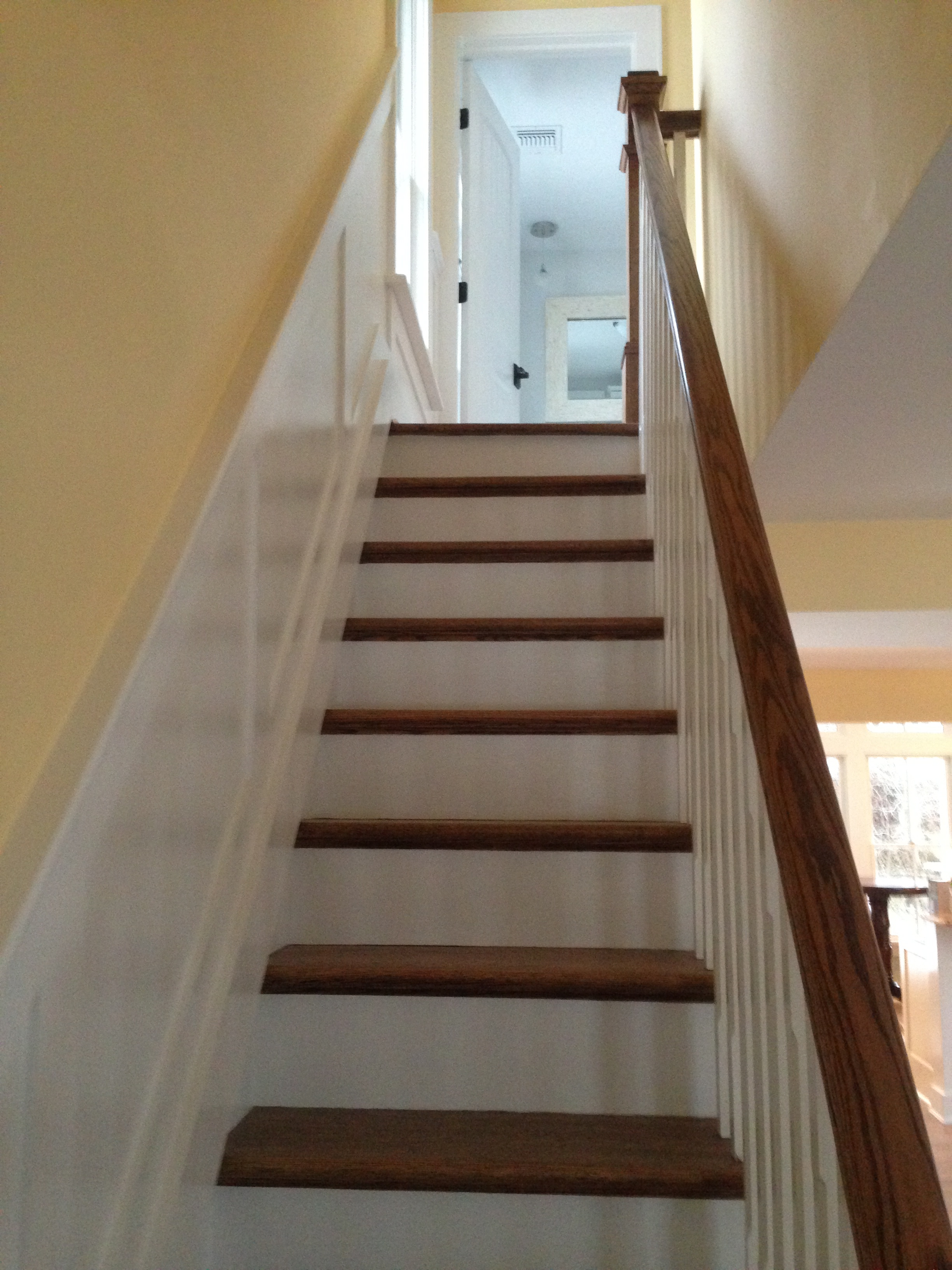 Completed stairway.