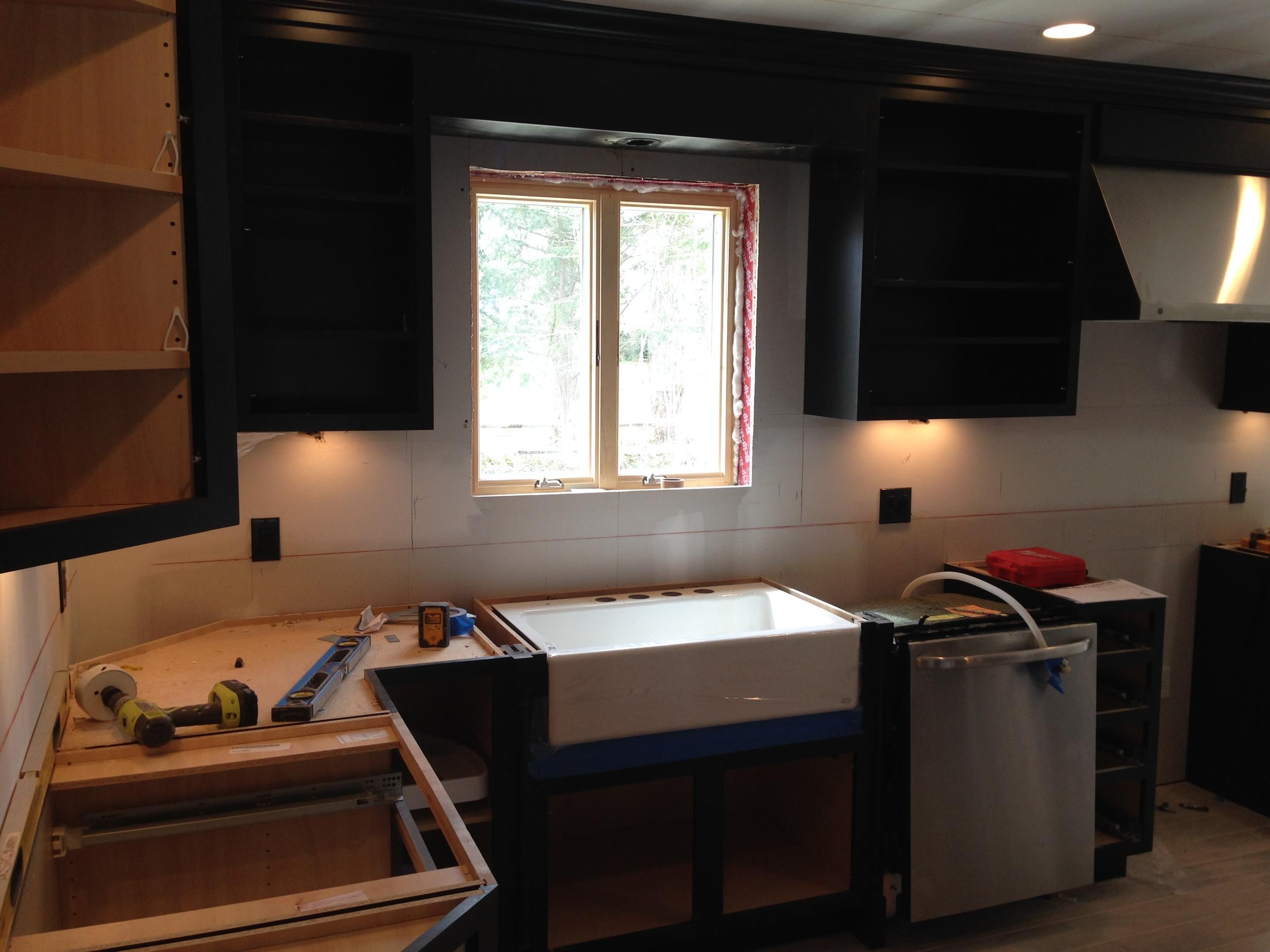 Kitchen in progress.