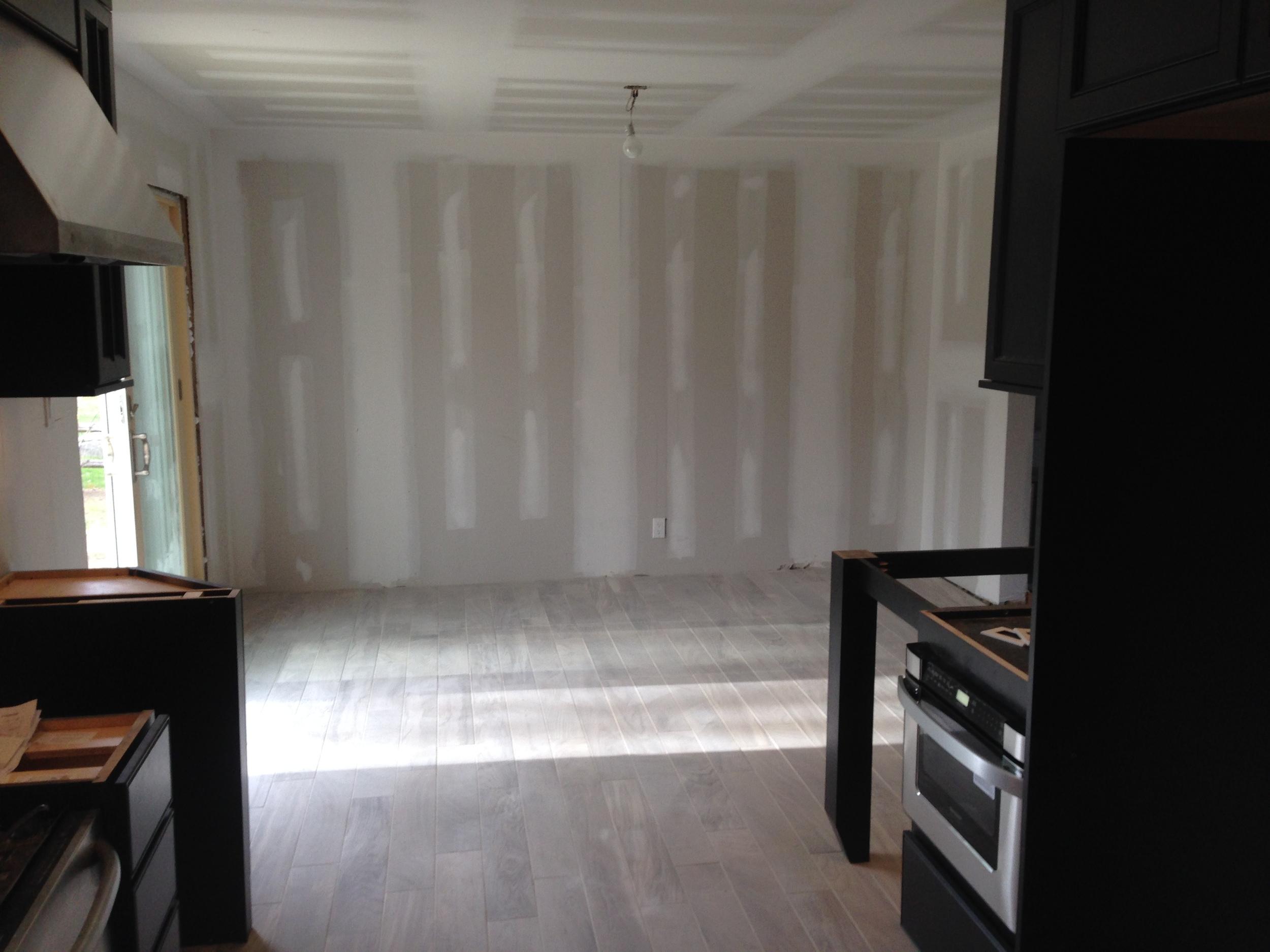 Start of renovations.