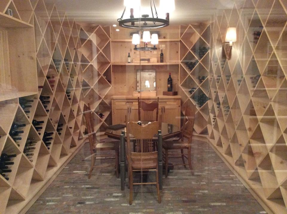 stom built 2000 bottle wine cellar finished