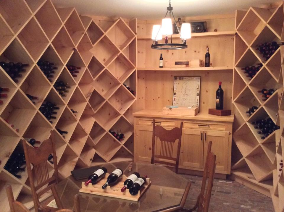 stom built 2000 bottle wine cellar finished.