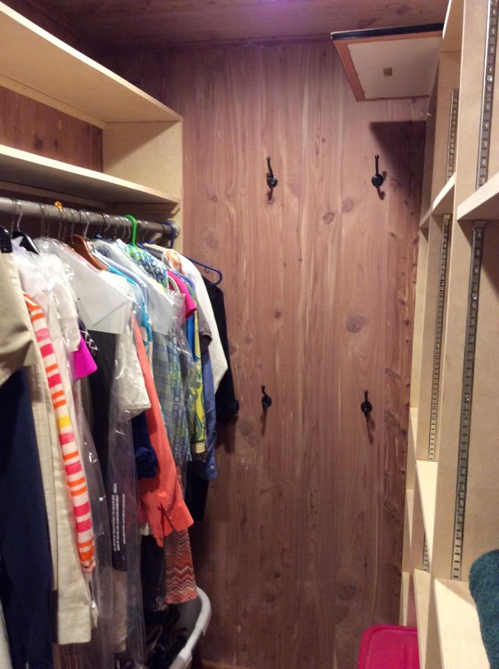 Finished closet.