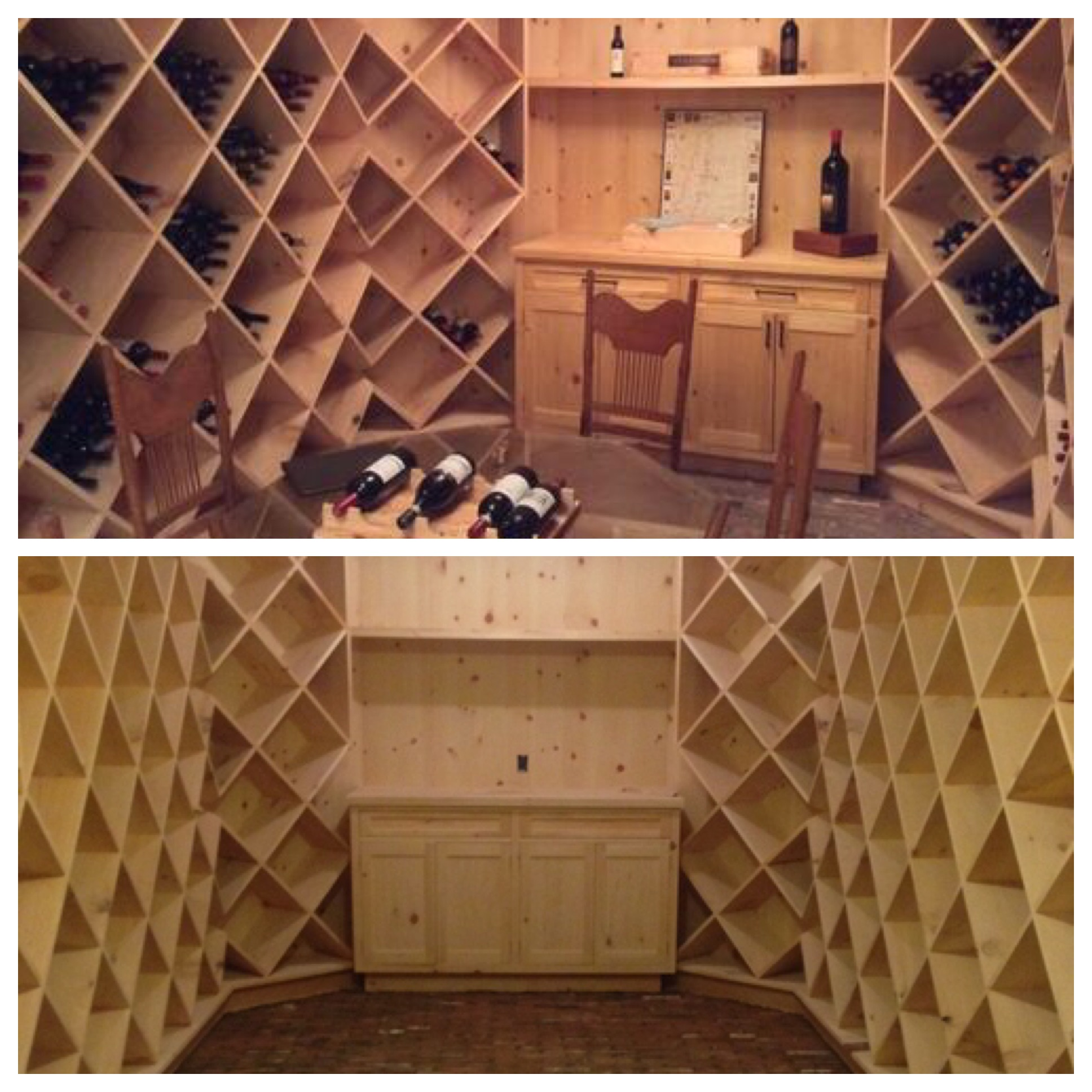 2000 bottle wine cellar before and after
