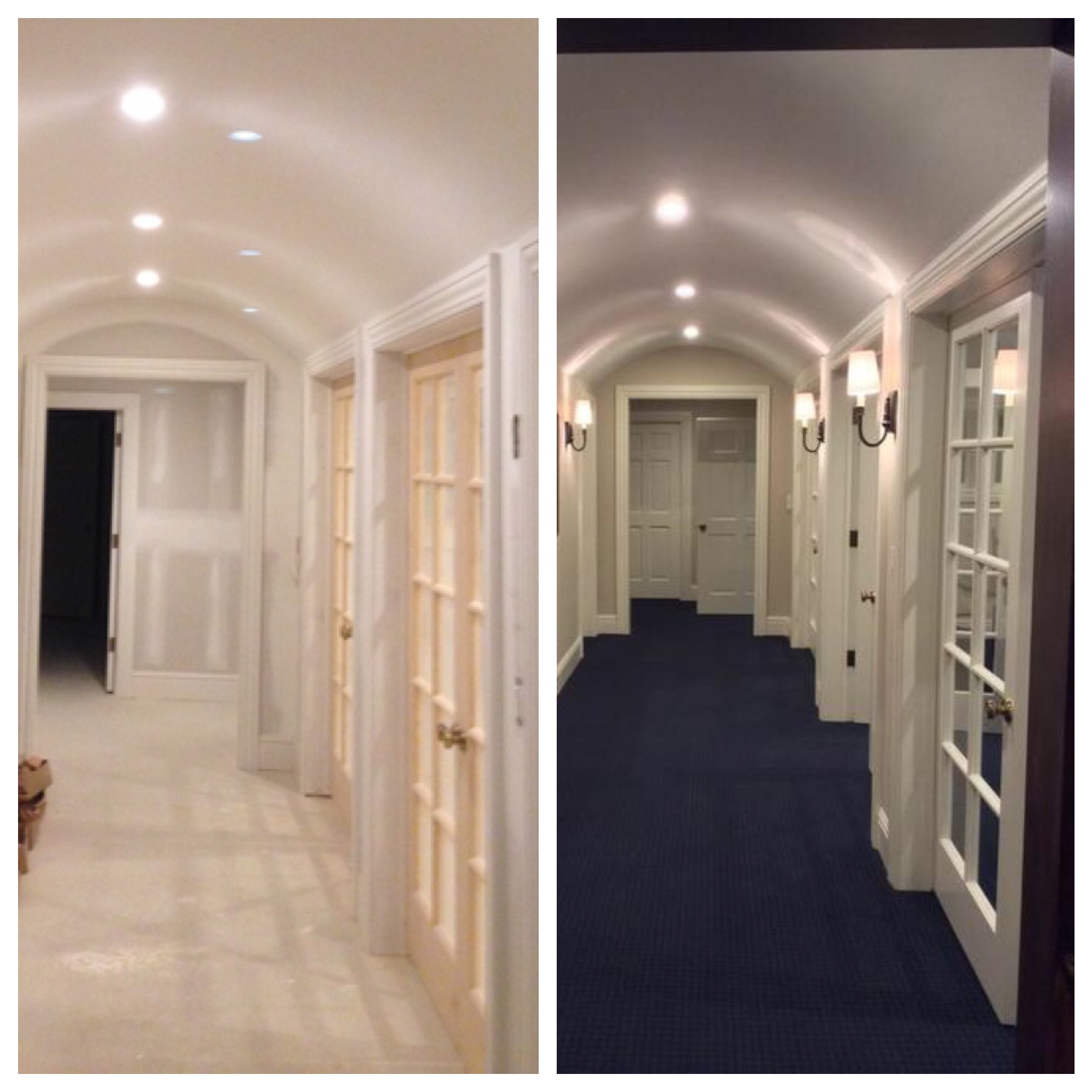 Barrel Ceilings before and after