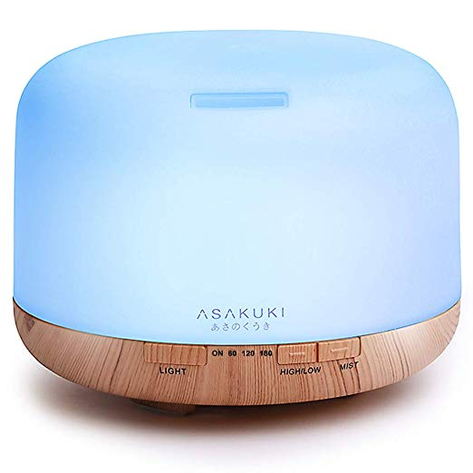 Essential Oil Diffuser : My boyfriend and I use this every night, mostly for the red LED light that puts us to sleep but I love the option to add essential oils when I need a little boost.