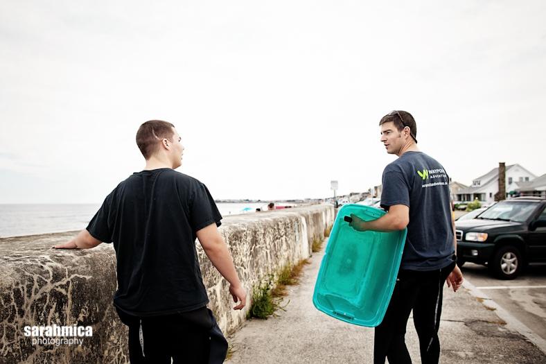 Dan and an adventurist walk to the beach