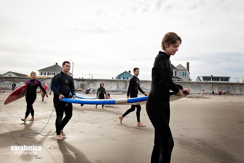 A Waypoint Volunteer leads an adventurist to the ocean