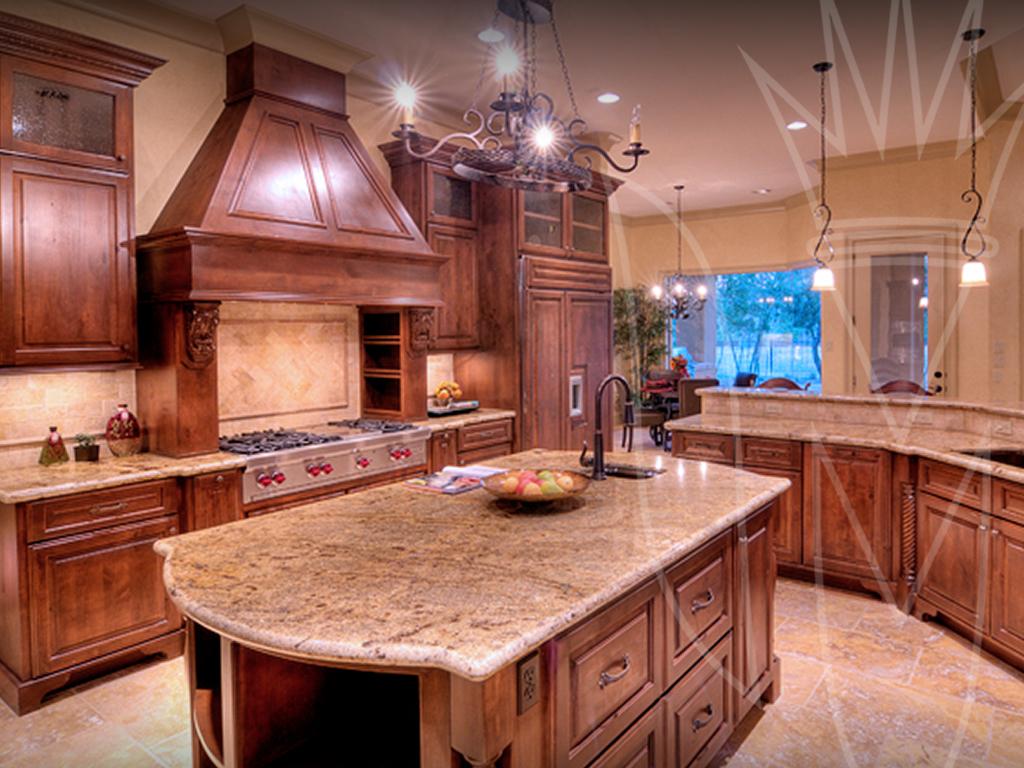 Knotty Alder Cabinets Chestnut Stain