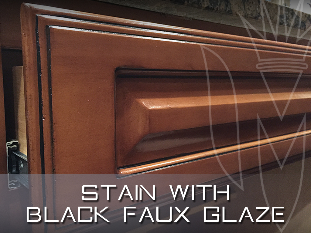 Stained Maple with Black Faux Glaze