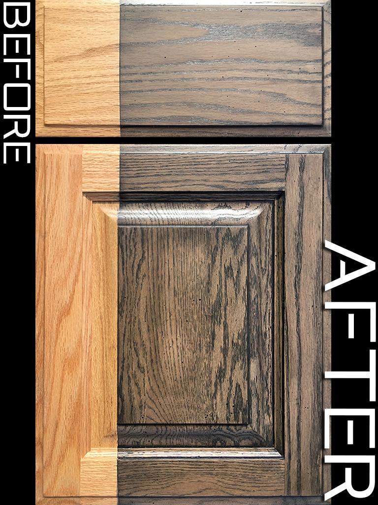 Refinished Builder Grade Oak Cabinet