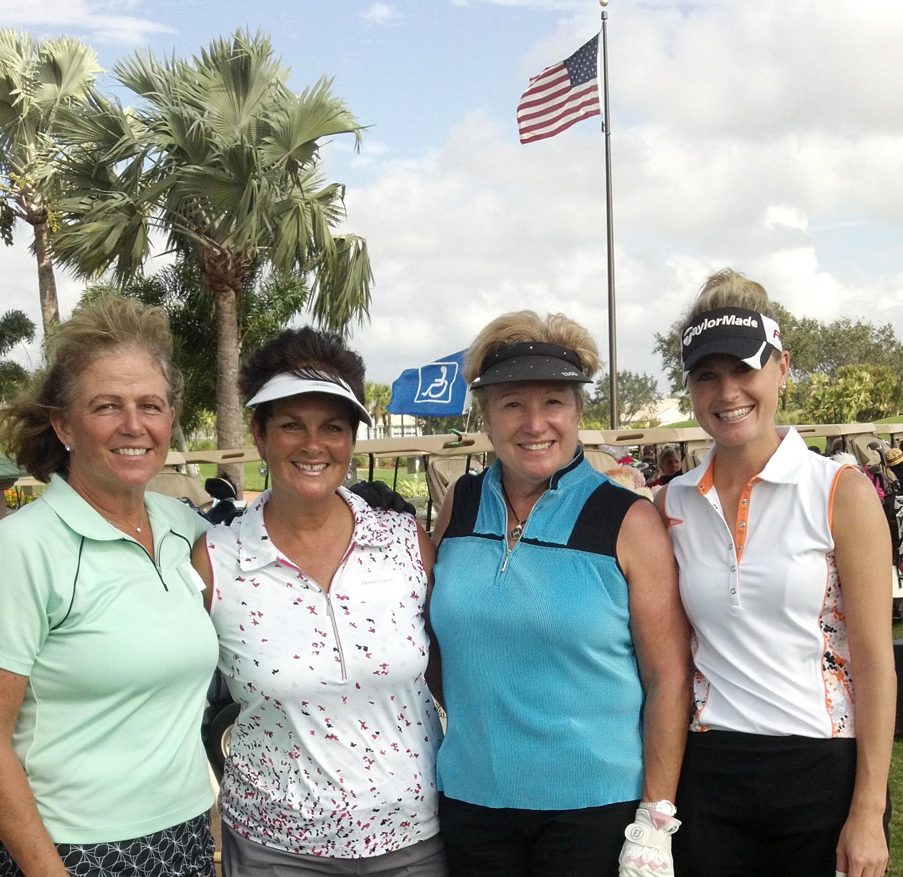 Donna Gravel, Linda Hartz, Elaine Marohn and Pro – Vanessa Hanba