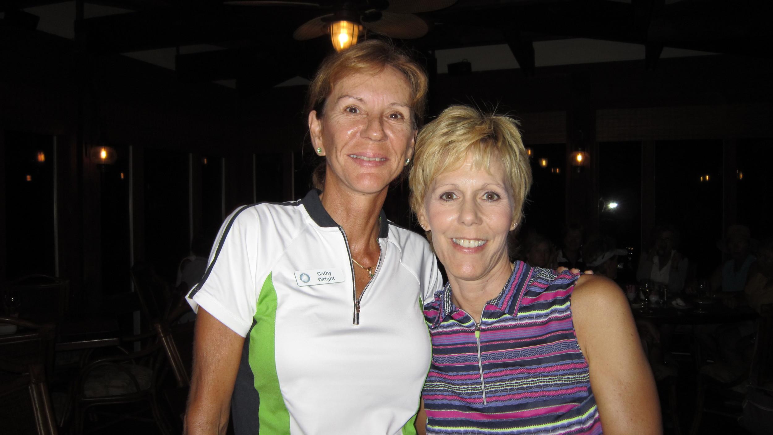 Cathy Wright and  Nita Doyle