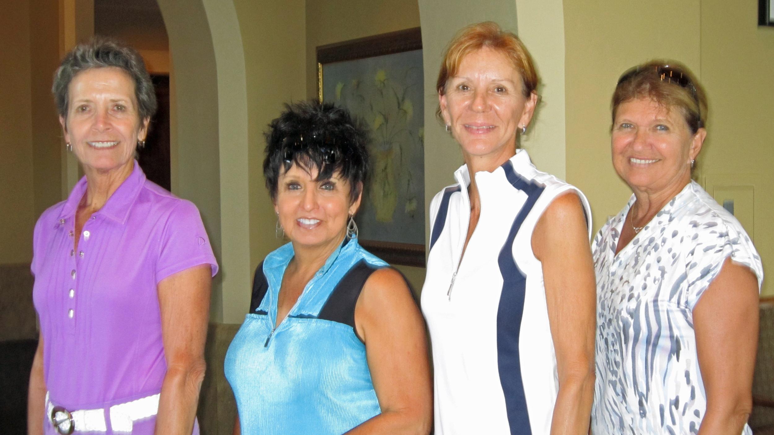 Valerie Klosterman, Linda Russell, Cathy Wright, and Karen Truono