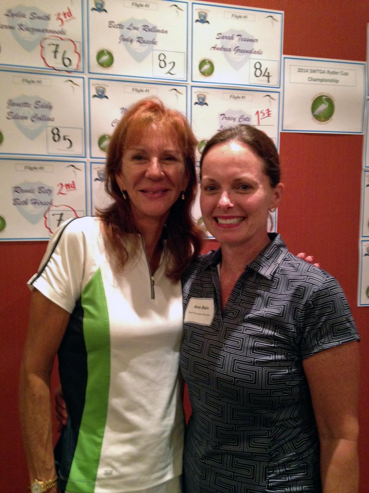 Cathy Wright and Ann Bain