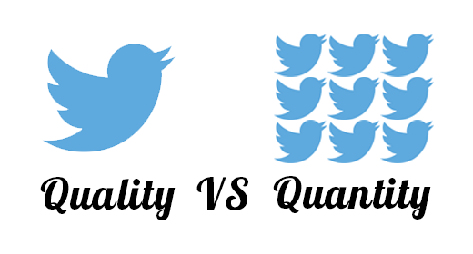 Quantity wins on social media