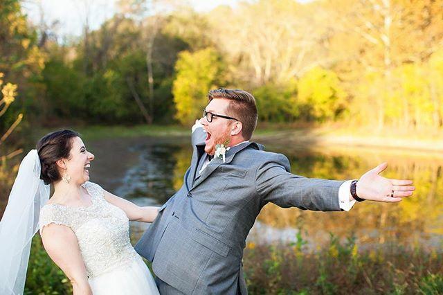 Sneak peek of last weekend :) Marriage looks good on ya, Luke and Laura!