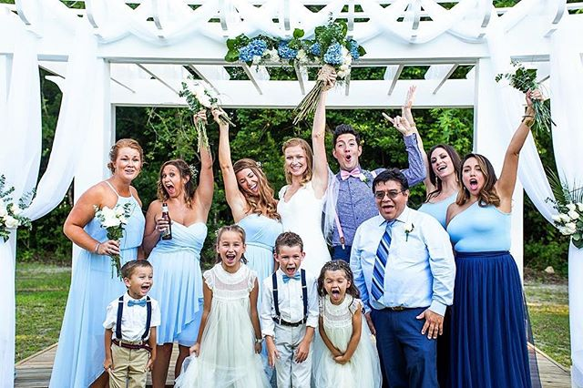 """An essential shot for every wedding we do is one known as the """"Time of Your Life"""" pose.  Congrats again to Shelly and Luis :) I feel like you guys really were having the time of your lives! . . . #timeofyourlife #weddings #portraits #northcarolinaweddings"""