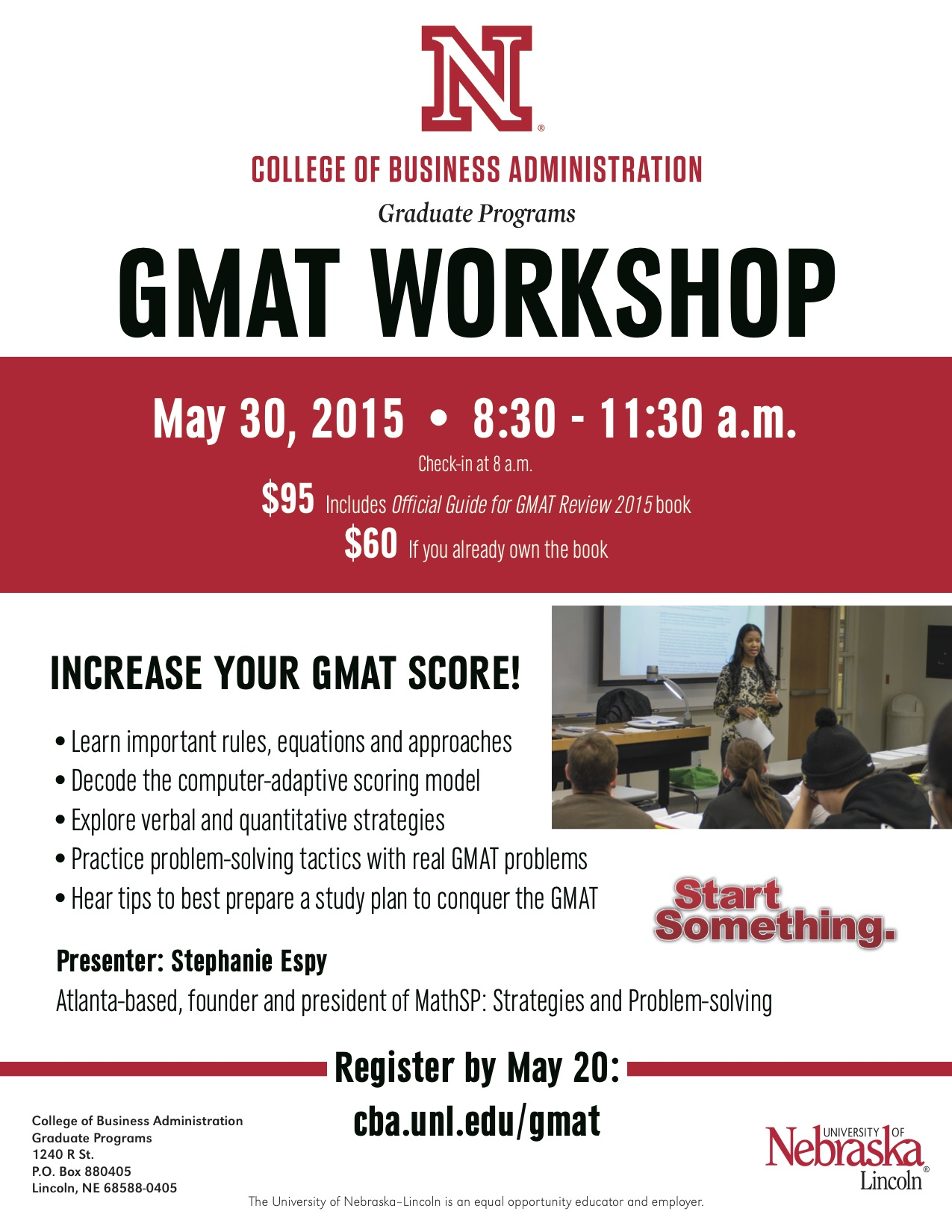 GMAT Workshop flyer