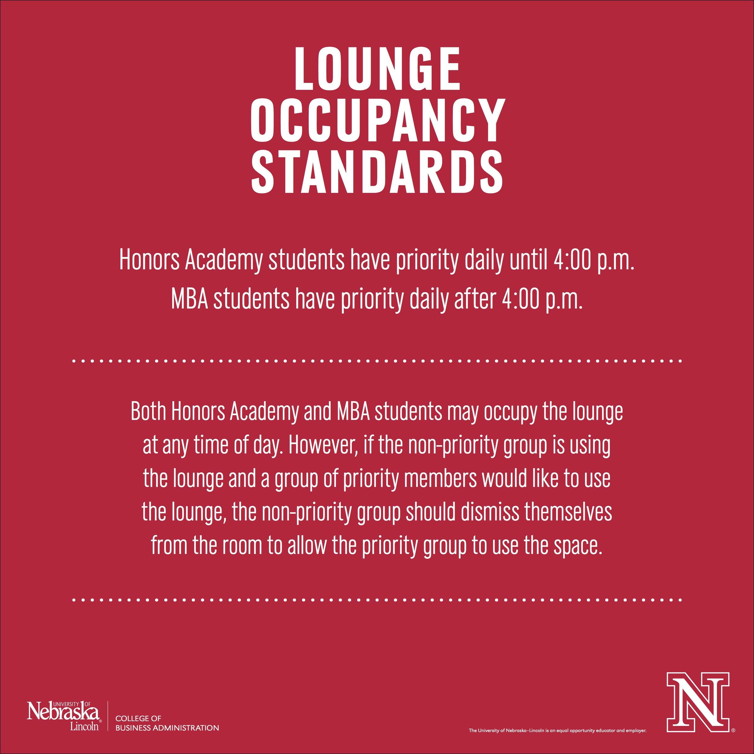 MBA Lounge signage
