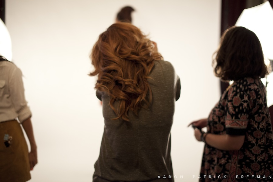 A behind the scenes look with photographer Lindsay Rosenberg   doing a fashion shoot.