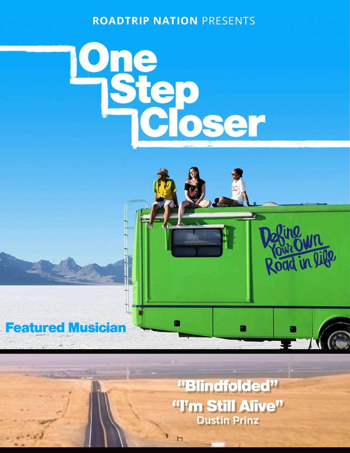"April - 9th - 2018  Excited to announce that my music is featured in ""One Step Closer,"" a @RoadtripNation documentary that follows three students as they interview people about the places community college helped them reach. Check it out!    http://www.onestepcloserfilm.com"
