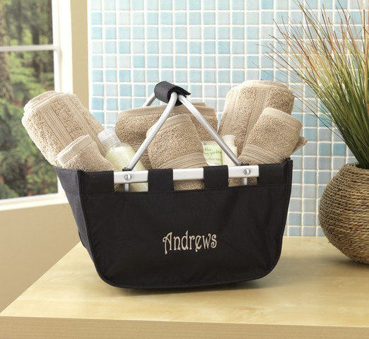 MINI MARKET TOTE, black