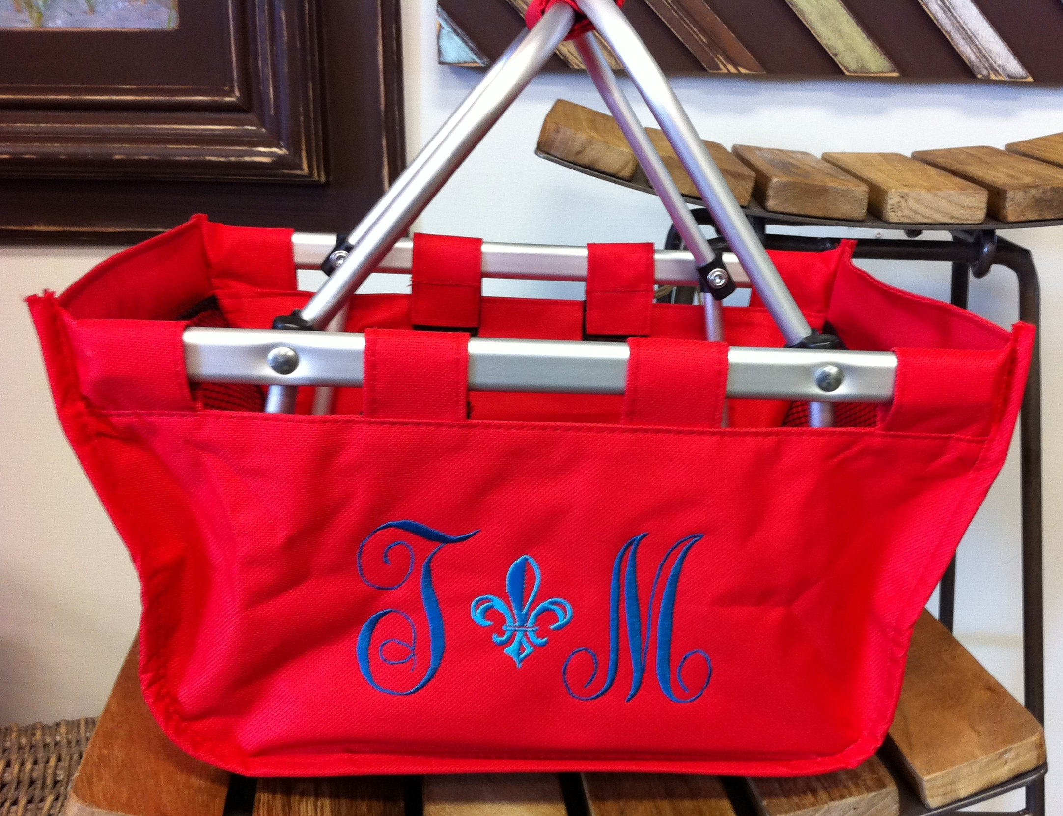 MINI MARKET TOTE, red