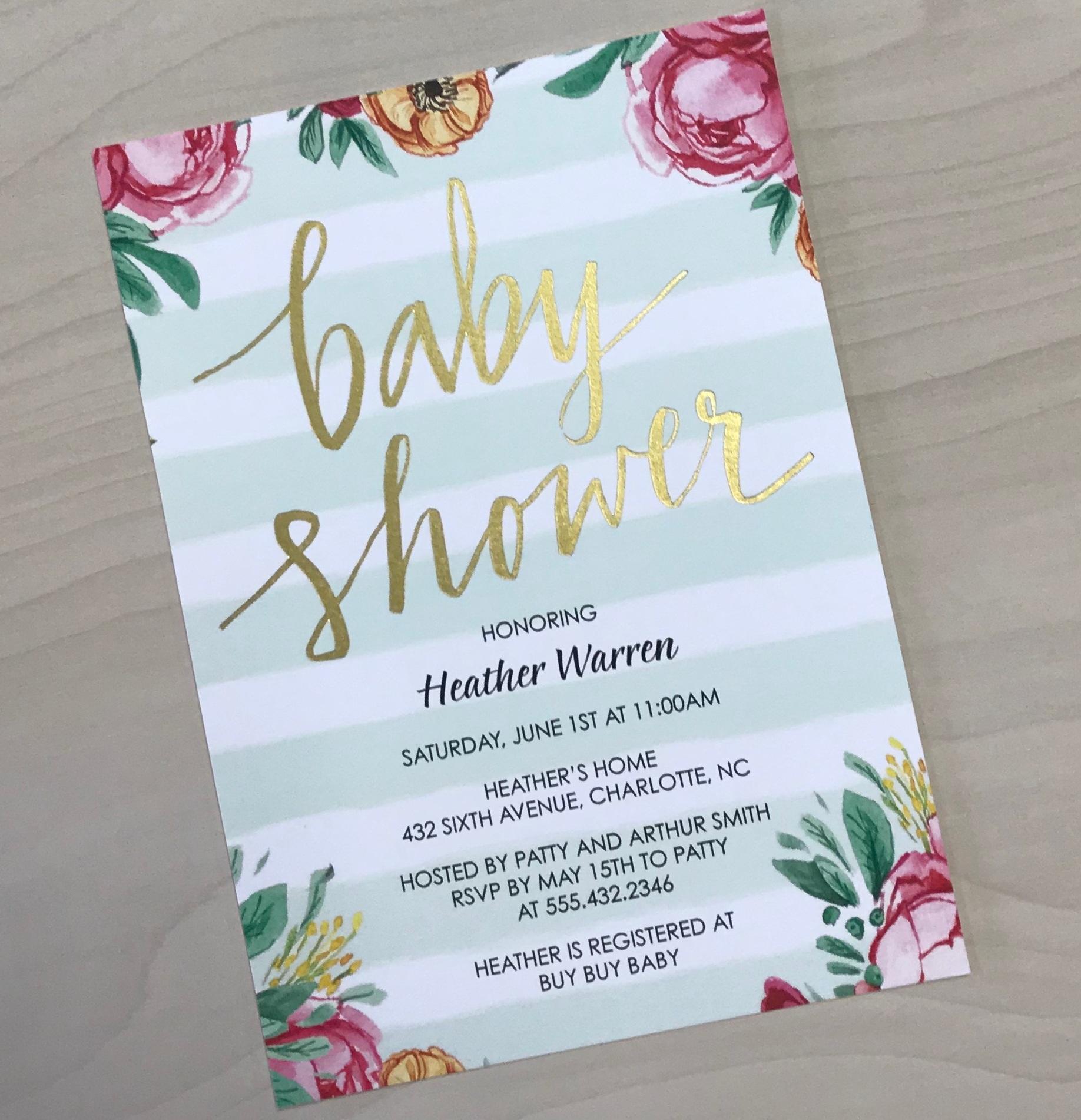 Baby Shower Stripes Invitation