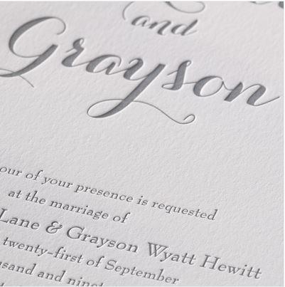 Typography Style in Letterpress