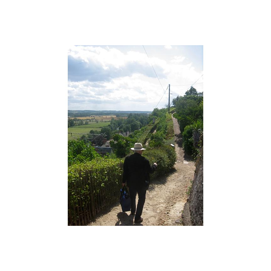 Steve on a walking path in Troo France