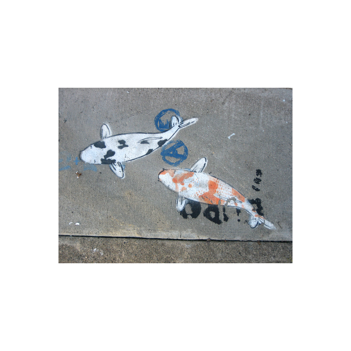 24th Street sidewalk art