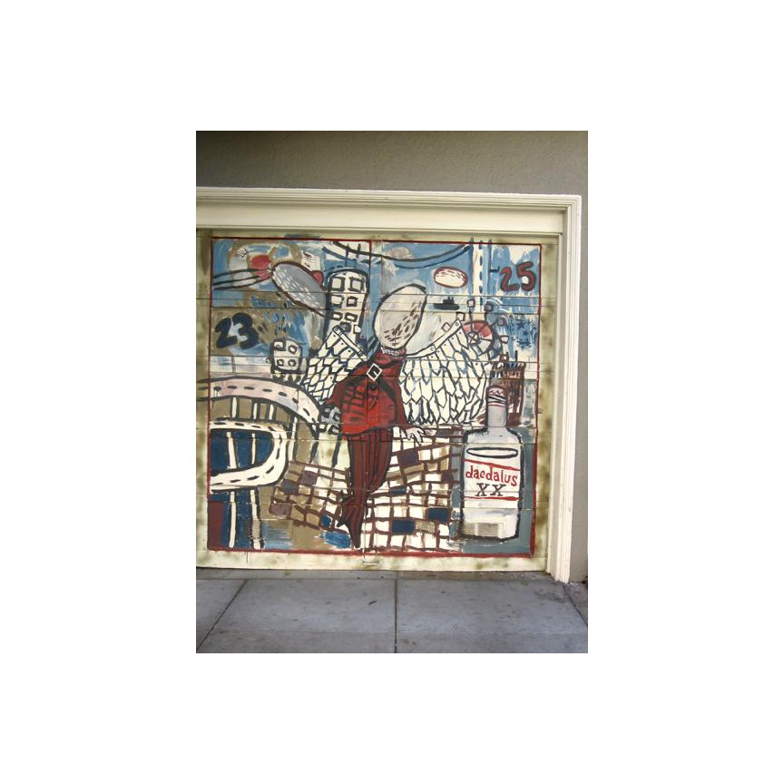 Garage door art Dearborn Street